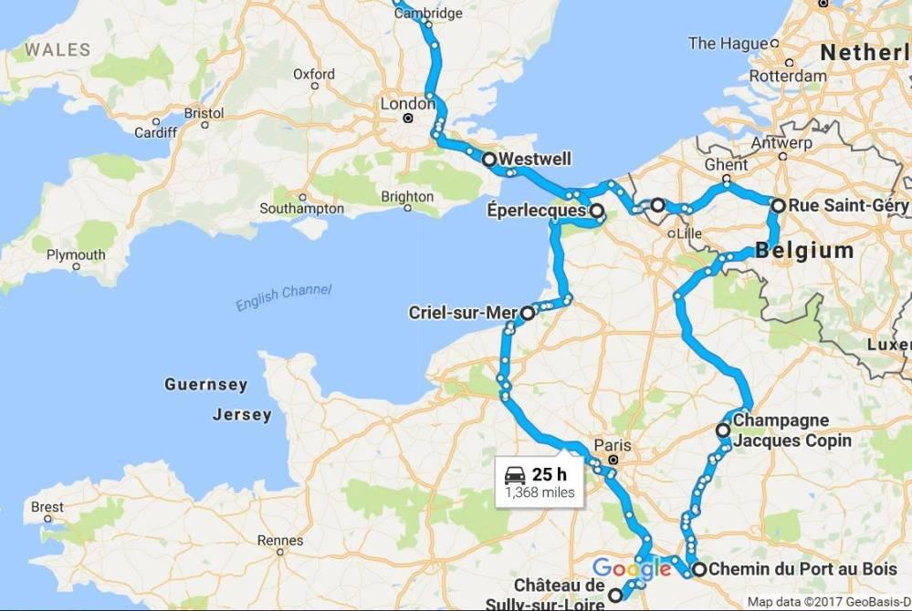 memorial tour map