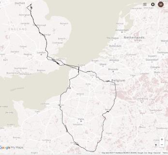 Mem Tour map