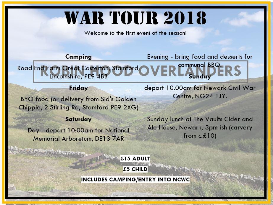 war tour 2018