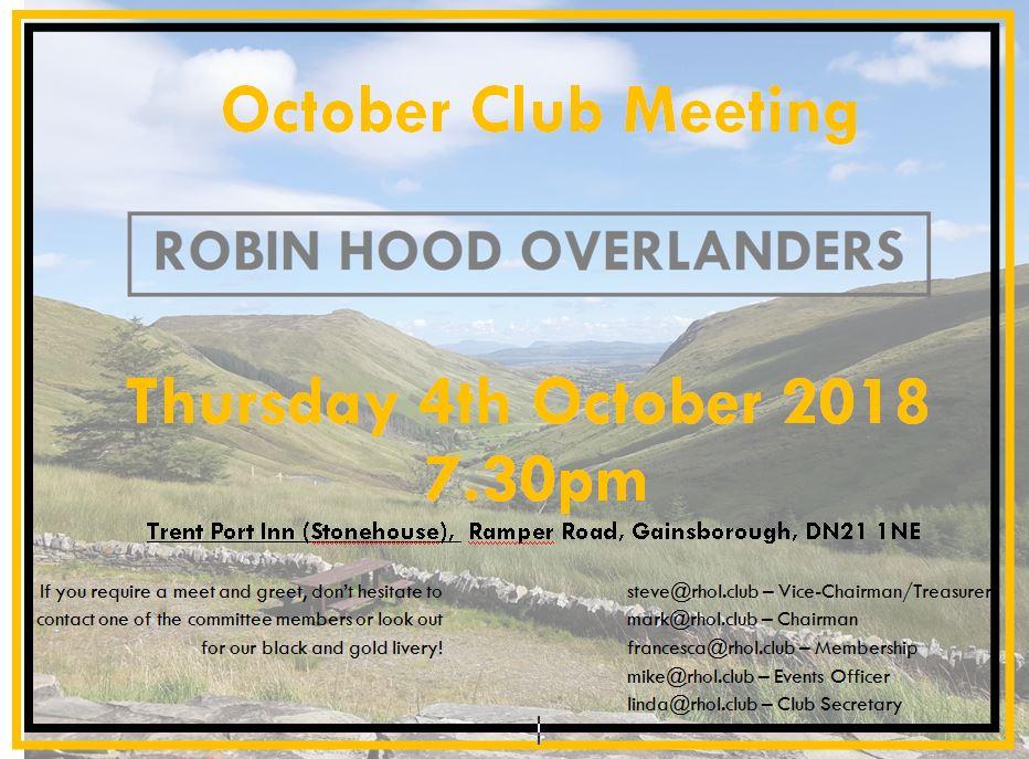 october club meet